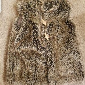 New! ZARA Girls Faux Fur Vest